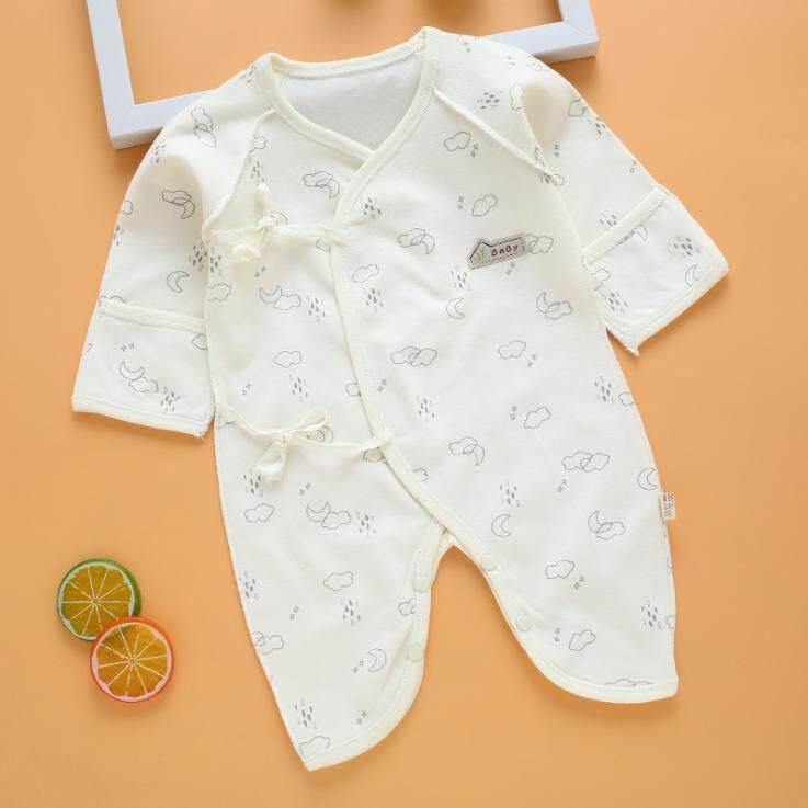 ส่วนลด Body Suit เด็กแรกเกิด 3 เดือน ผูกหน้า ผ้าคอตตอน อ่างทอง