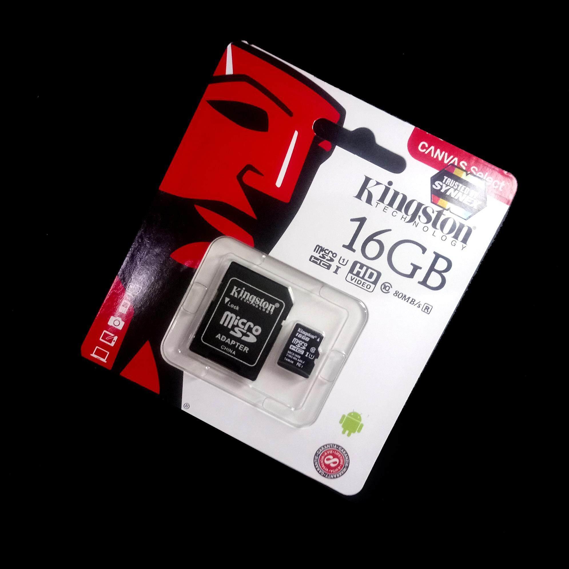 ขาย ของแท้ Synnex Kingston เมมโมรี่การ์ด 16Gb Sdhc Sdxc Class 10 Uhs I Micro Sd Card With Adapter กรุงเทพมหานคร ถูก