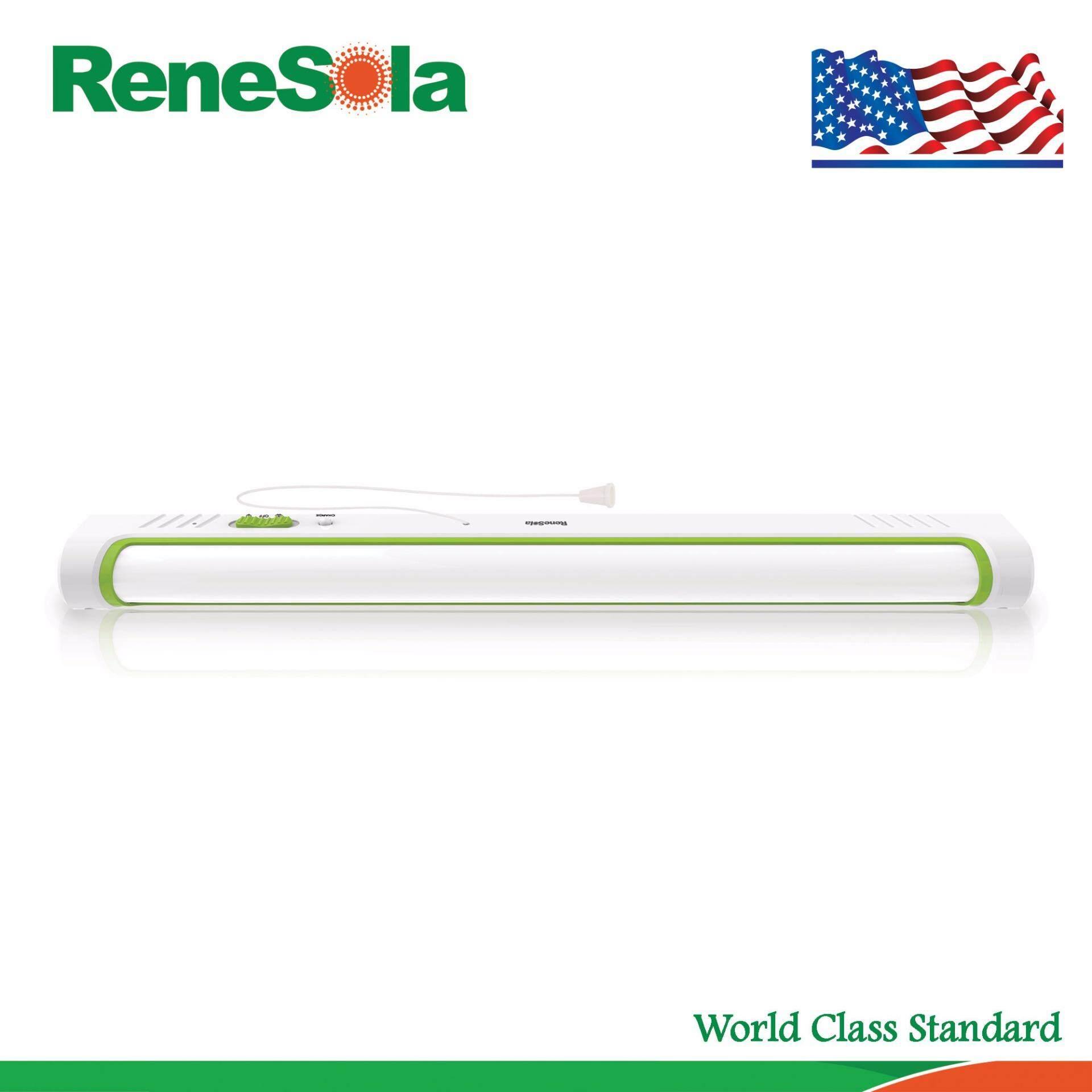 โปรโมชั่น Renesola โคมไฟฉุกเฉินแอลอีดีติดผนังแบบชาร์จไฟ 8 วัตต์ สีเขียว