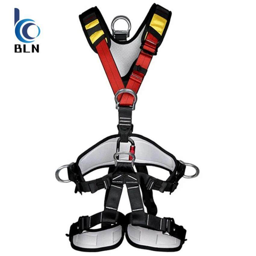 ราคา 【Bln Outdoor】Outdoor Rock Climbing Rappelling Full Body Safety Harness Wearing Seat Belt เป็นต้นฉบับ Unbranded Generic