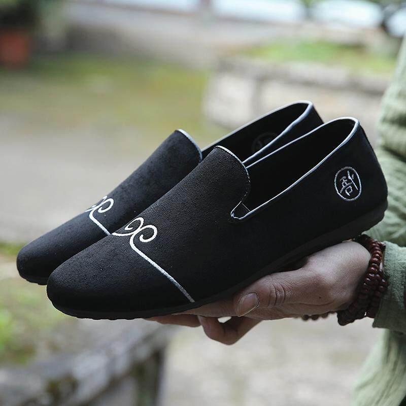 ราคา ขี้เกียจอังกฤษด้านล่างนุ่มสีขาวนักเรียนรองเท้าน้ำรองเท้าผู้ชาย A23 สีดำรองเท้า เป็นต้นฉบับ Other