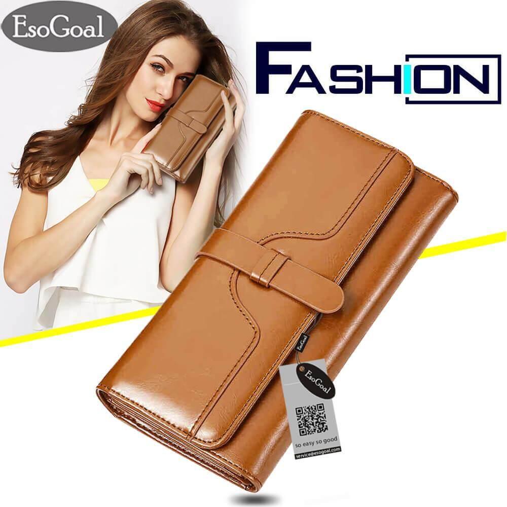 ขาย ซื้อ Esogoal Women S Multi Card Wallet Clutch Purse Long Zipper Handbag Organizer Card Holder จีน