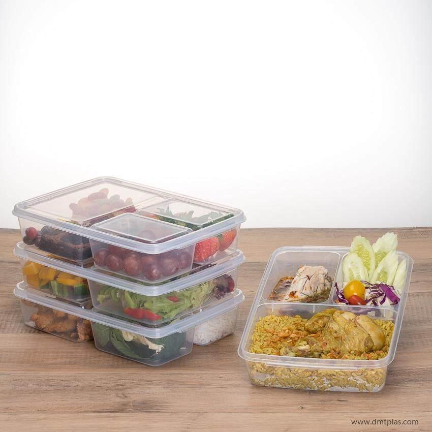 ซื้อ Dmt กล่องใส่อาหาร ถนอมอาหาร เบ็นโตะ Grab Go 3 ช่อง 1 เซ็ต 4 ชิ้น No 9802 ออนไลน์ ถูก