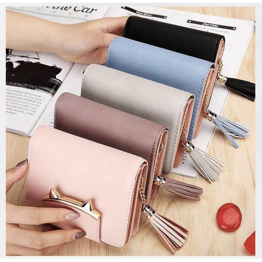 ราคา Super Fashion กระเป๋าสตางค์ใบยาว กระเป๋าเงินผู้หญิง กระเป๋าตังตามวันเกิด รุ่น Black Blue Pink Purpul ที่สุด