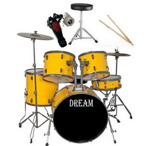 Dream กลองชุด 5 ใบ รุ่น Jbp 0975 สีเหลือง Dream ถูก ใน ไทย