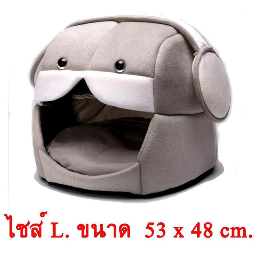โปรโมชั่น 53 ซม X 48 ซม ที่นอนสัตว์เลี้ยง เตียงนอนสัตว์เลี้ยง สุนัข แมว สีเทา ถูก