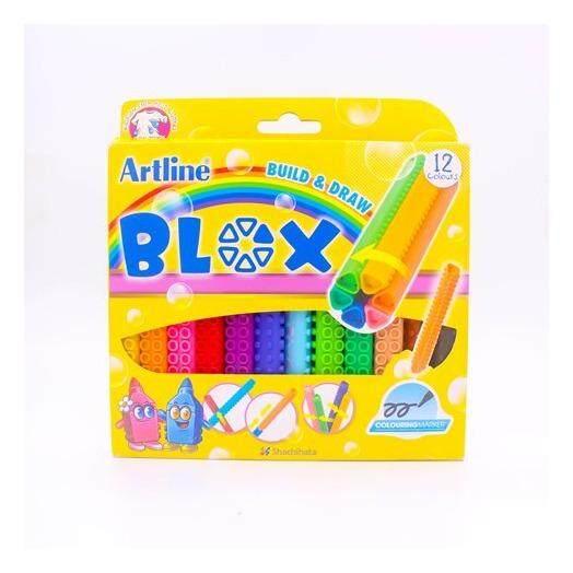 Artline ปากกาเมจิ BLOX ชนิดต่อได้ หลากสี ขนาด 1.2 มม. ชุด 12 ด้าม 12 สี ต่อเป็นรูปร่างต่างๆได้