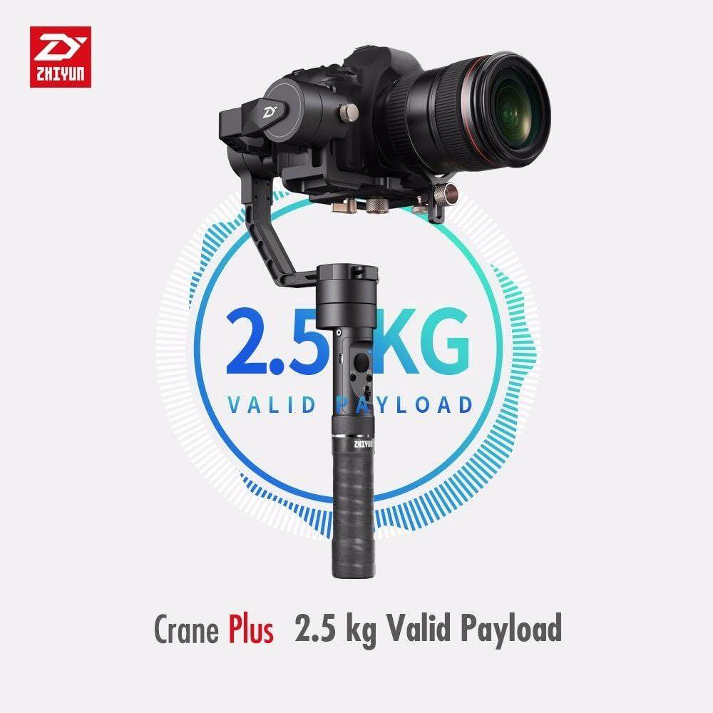 ราคา ราคาถูกที่สุด Zhiyun Crane Plus Max Load 2 5 Kg 3 Axis Handheld Stabilizer 3 Axis Gimbal For Dslr