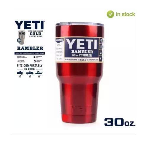 Yeti Rambler แก้วเก็บความเย็น เก็บน้ำแข็งได้นาน 24ชั่วโมง สีสแตนเลส ถูก