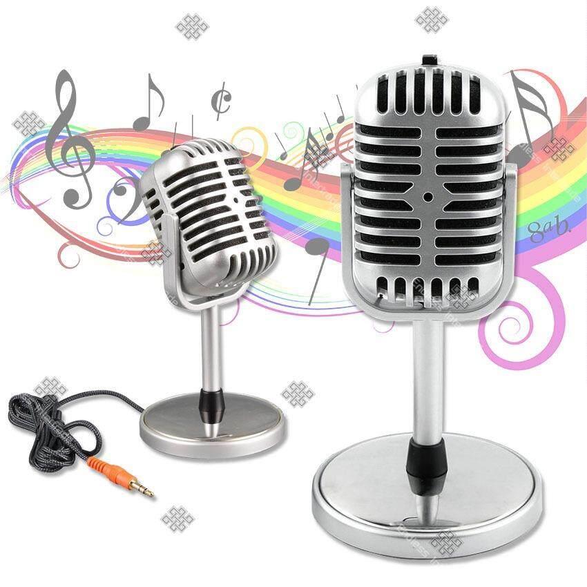 ราคา Sinlin ไมโครโฟนเรโทรสไตล์ย้อนยุค สำหรับ พูดหรือร้องเพลง รุ่น Rtm020 Pd ราคาถูกที่สุด