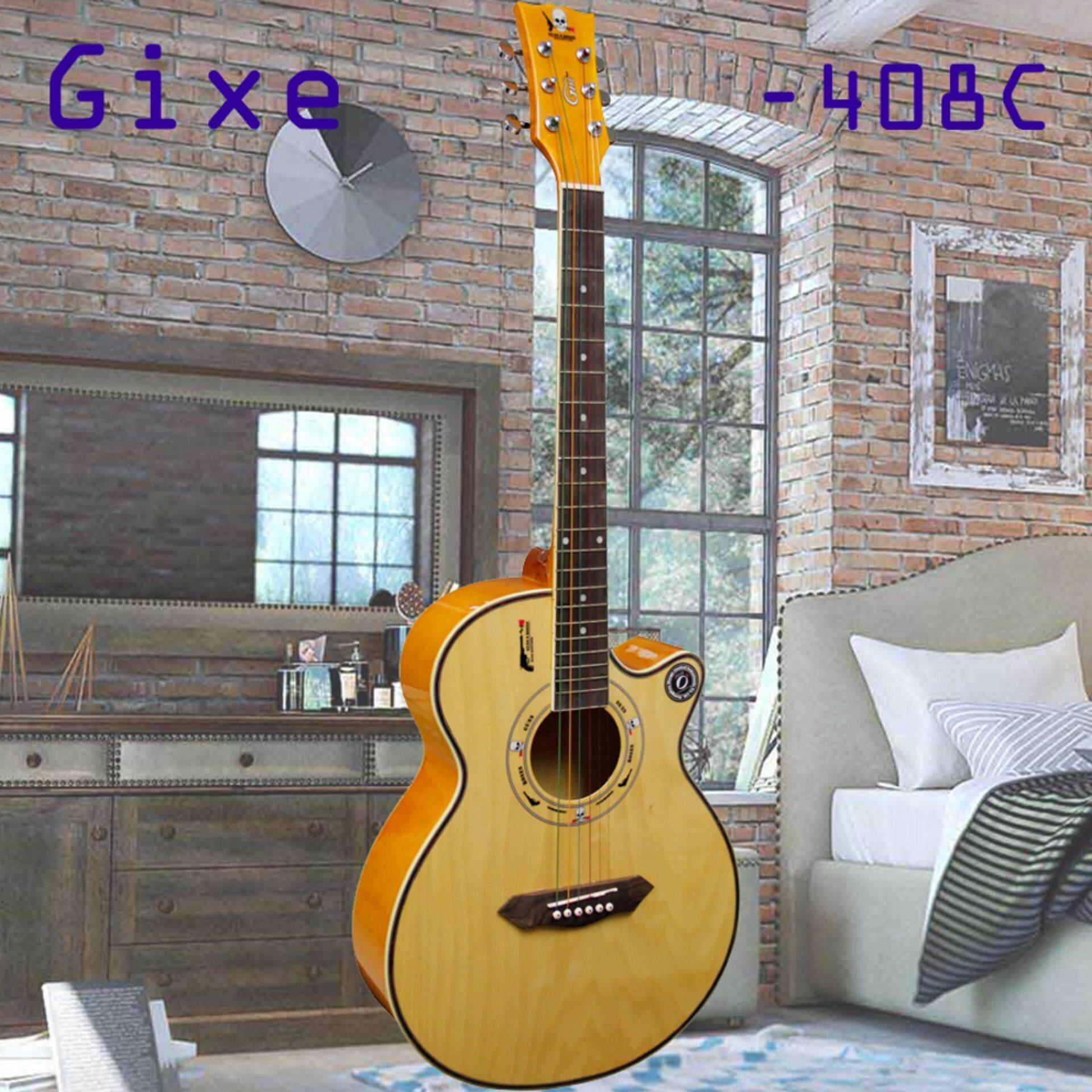 ราคา Gixe กีต้าร์โปร่ง รุ่น G2 Gx408C สีไม้ Gixe เป็นต้นฉบับ