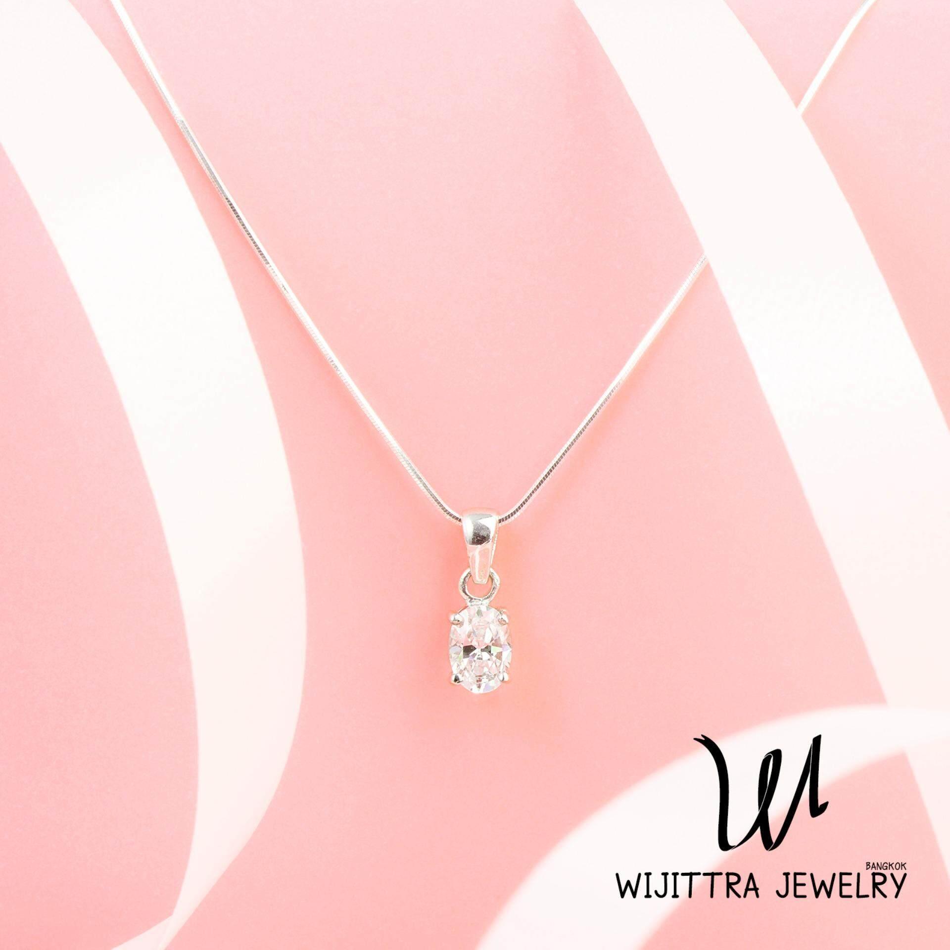 ซื้อ Pegasus Wijittra Jewelry สร้อยคอเงินแท้ 925 จี้เพชรสวิส Cubic Zirconia ชุบด้วยโรเดียม พร้อมกล่องเครื่องประดับ High End Octagonal Snake ปรับสายได้ 16 18 นิ้ว ใหม่