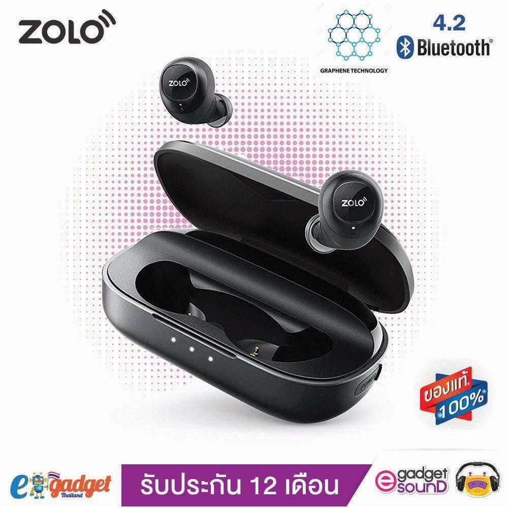 ราคา Zolo Liberty Anker หูฟังบลูทูธ 4 2 ทัสกรีน กันน้ำ กันเหงื่อ Ipx5 True Wireless Bluetooth Touch Screen Ipx5 Waterproof Black Anker Thailand