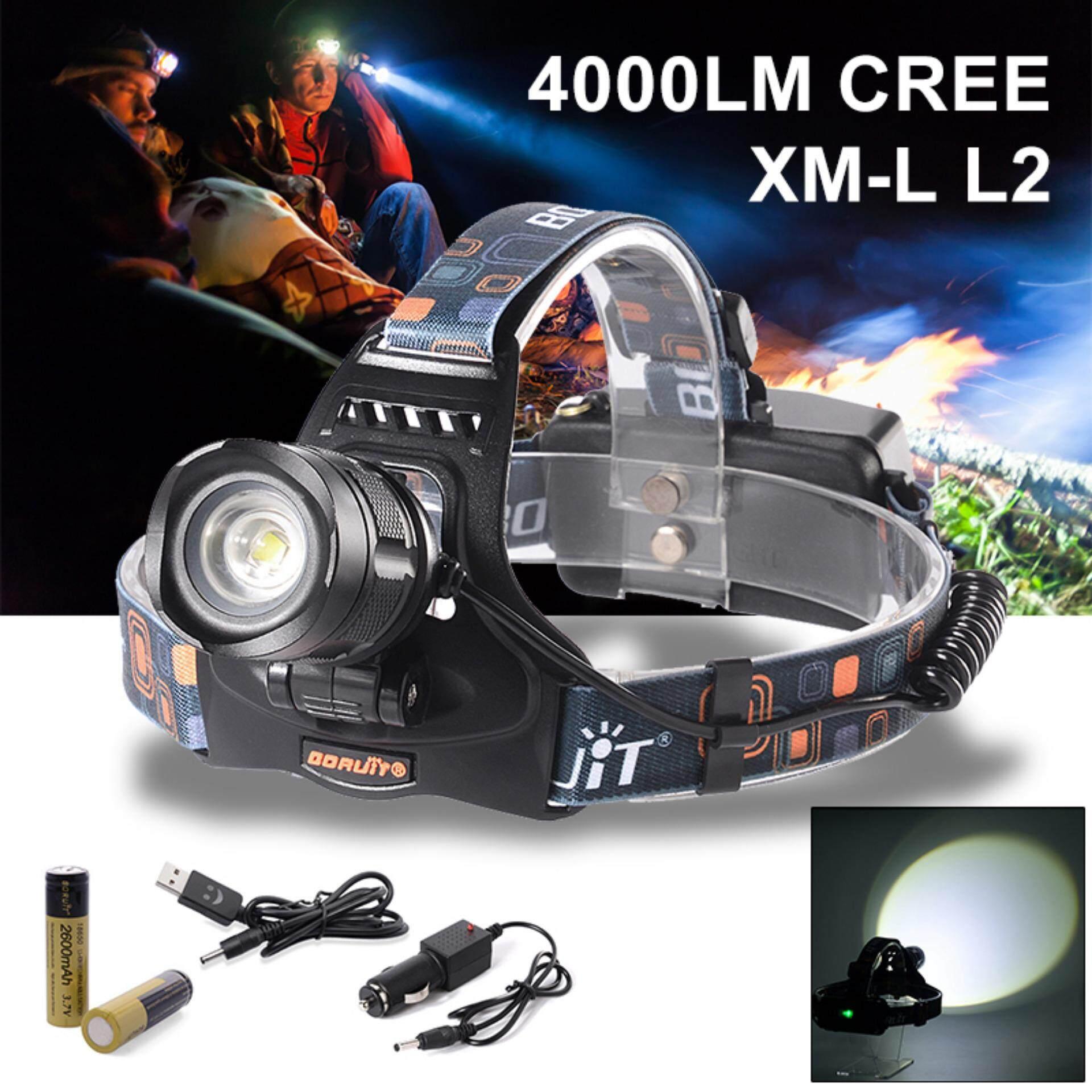 ซื้อ Xcsource โคมไฟคาดศีรษะ 4000Lm Cree Xm L L2 Led