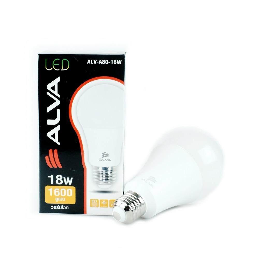 ราคา Alva หลอดLed Blub 18W แสงส้ม ถูก