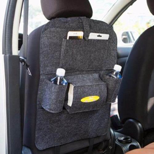ซื้อ ที่ใส่ของในรถเอนกประสงค์ กระเป๋าเก็บของหลังเบาะ ชนิด ผ้า สีดำเทา Unbranded Generic ถูก