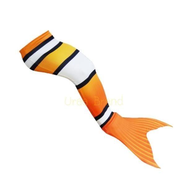 ขาย Mermaid Swimming Tails Kids ชุดว่ายน้ำ ชุดนางเงือก ชุดเด็ก หางนางเงือก รุ่น มีโม่ สีส้ม ราคาถูกที่สุด