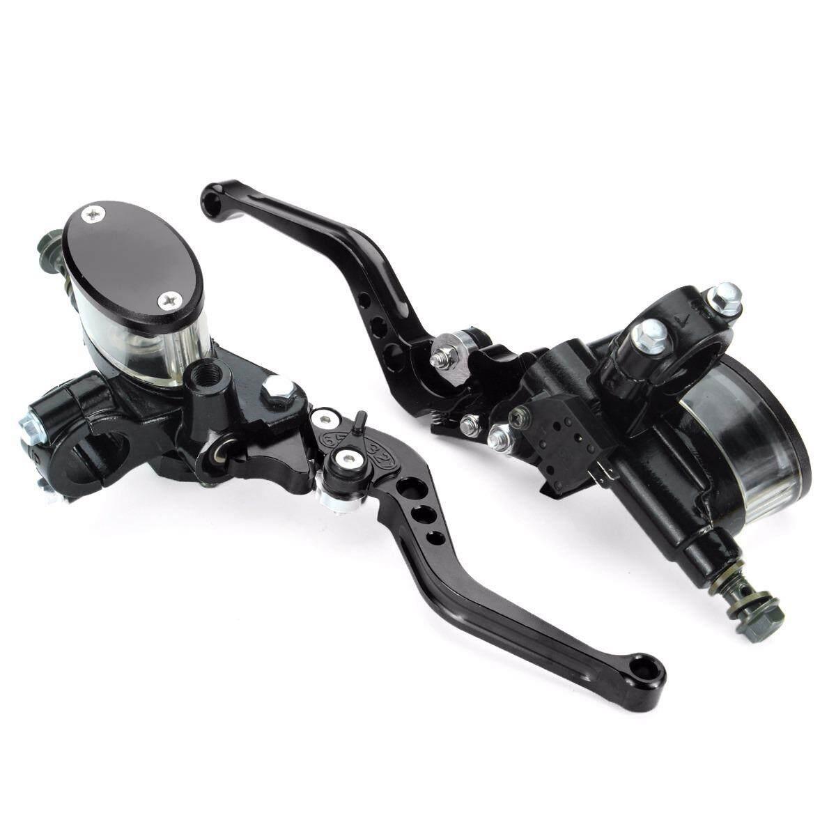 ขาย Universal Motorcycle Master Cylinder Reservoir Hydraulic Brake Clutch Lever Pair (Black) Intl ผู้ค้าส่ง