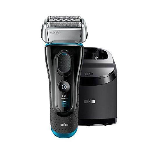 Braun เครื่องโกนหนวดไฟฟ้า รุ่น Series 5 5190cc Electric Shaver with CleanCharge Station Razor Cordless Shaving System