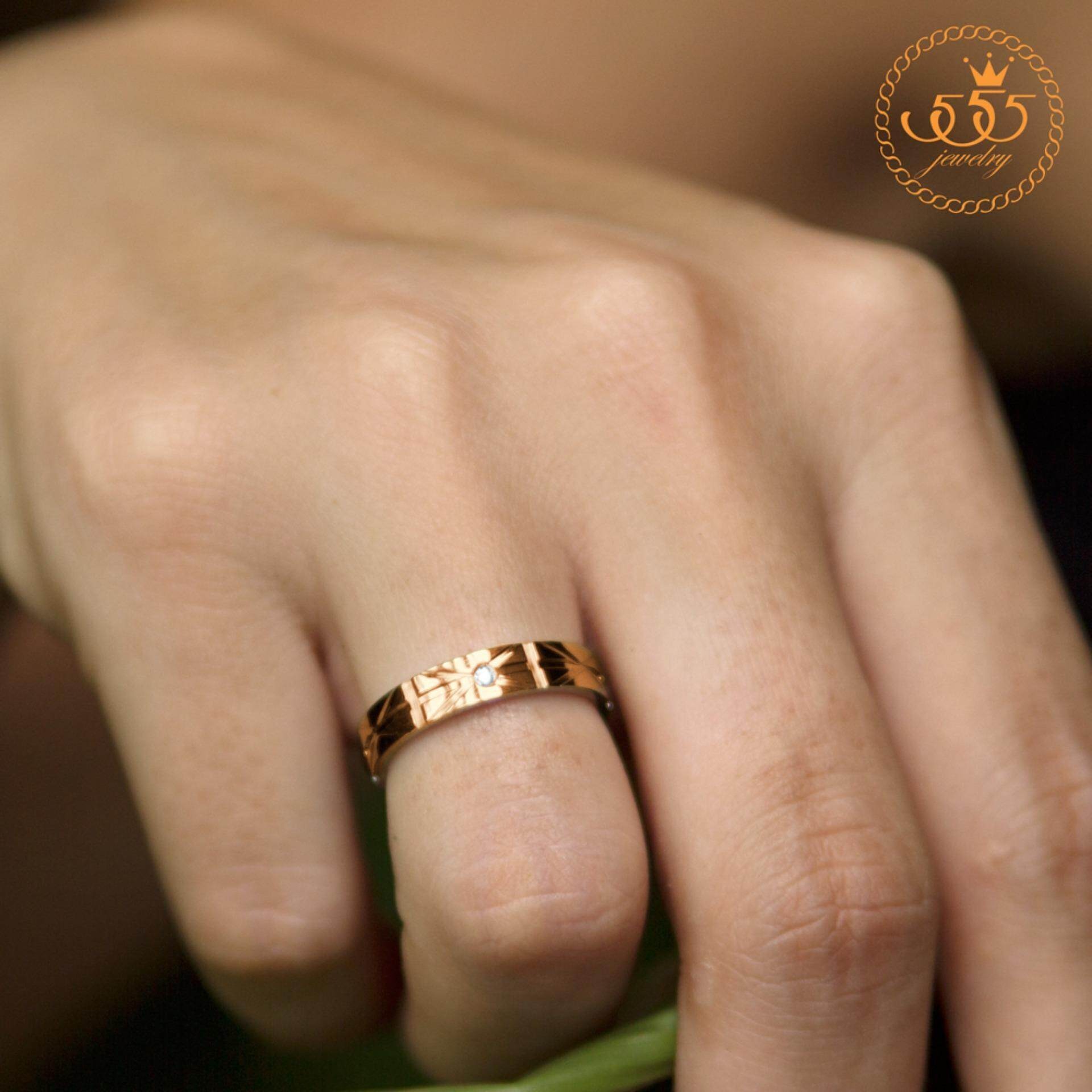 ขาย ซื้อ 555Jewelry แหวน รุ่น Mnc R403 C สี Pink Gold แหวนผู้หญิง แหวนคู่ แหวนคู่รัก เครื่องประดับ แหวนผู้ชาย แหวนแฟชั่น ใน ไทย