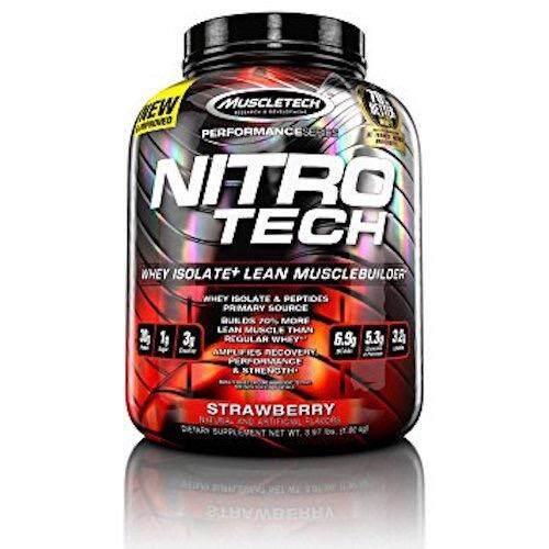 ขาย Muscletech Nitrotech 3 97Lb Strawberry ออนไลน์