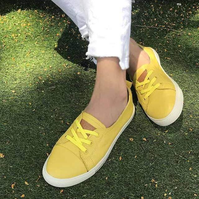 ราคา Meres รองเท้า รองเท้าแฟชั่น รองเท้าทรงผ้าใบ หนังแท้ 100 Leather Flat Shoes Sneakers Shoes 1710 เป็นต้นฉบับ