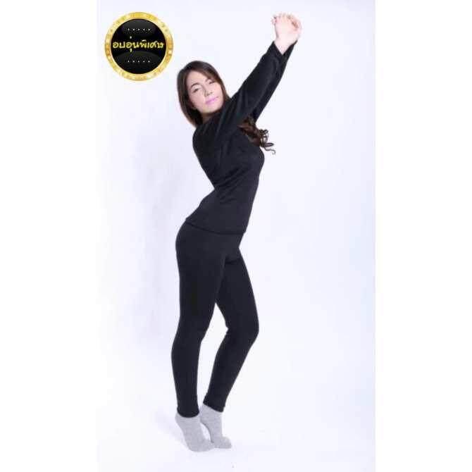 ขาย เลกกิ้ง กางเกงลองจอน Heattech กันหนาว ผู้หญิง สีดำ มี 5 ไซด์ให้เลือกซื้อ M L Xl 2Xl 3Xl ใหม่