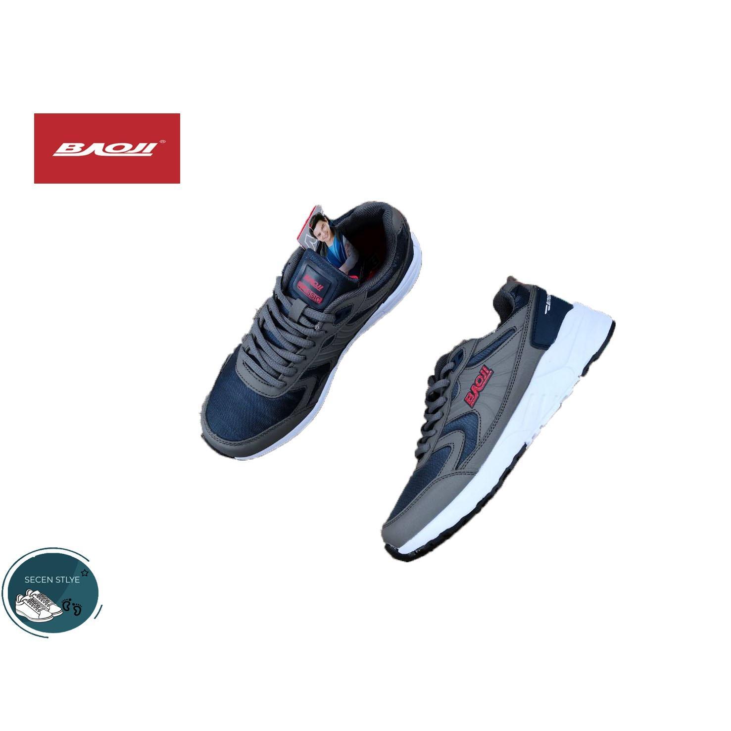ราคา Baoji แท้ รุ่น Bjm 242 สำหรับผู้ชาย รองเท้าผ้าใบ สวมใส่สบาย เบา สามารถใส่เล่นกีฬาได้ สีเทา นาวี