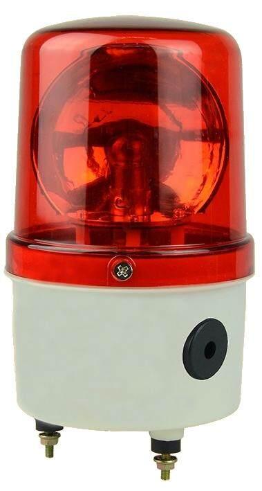 ไฟฉุกเฉิน ไฟหมุน พร้อมเสียงไซเรน เตือนภัย สีแดง