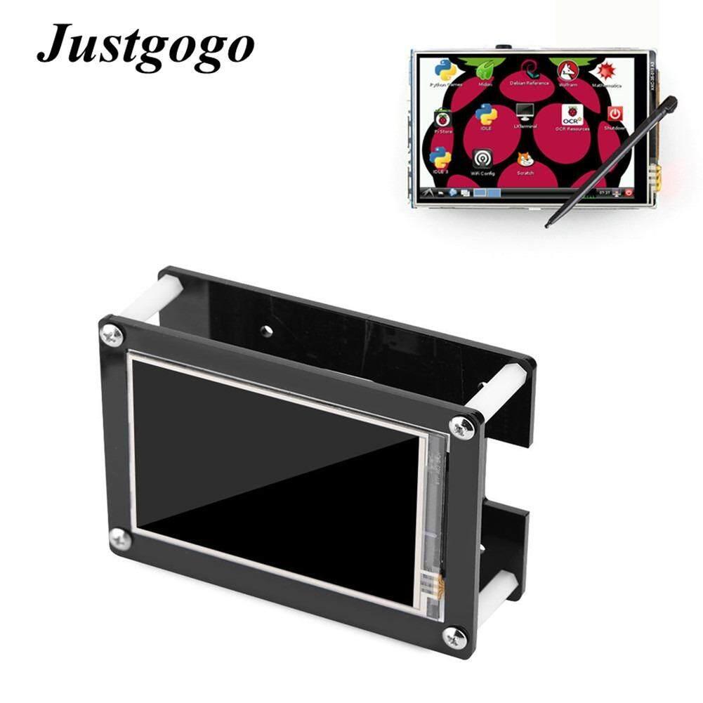 ราคา Justgogo 3 5 Inch 1080P Hd Lcd Screen Display With An Acrylic Case For Raspberry Pi Black ใหม่
