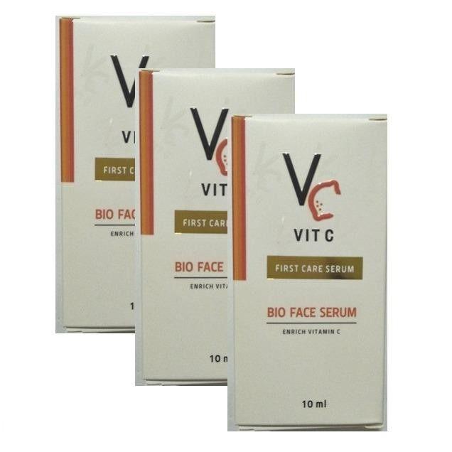 Vc Vit C Bio Face Lotion เซรั่มวิตามินซี น้องฉัตร 10 Ml แพคเกจใหม่ 3 ขวด ใหม่ล่าสุด