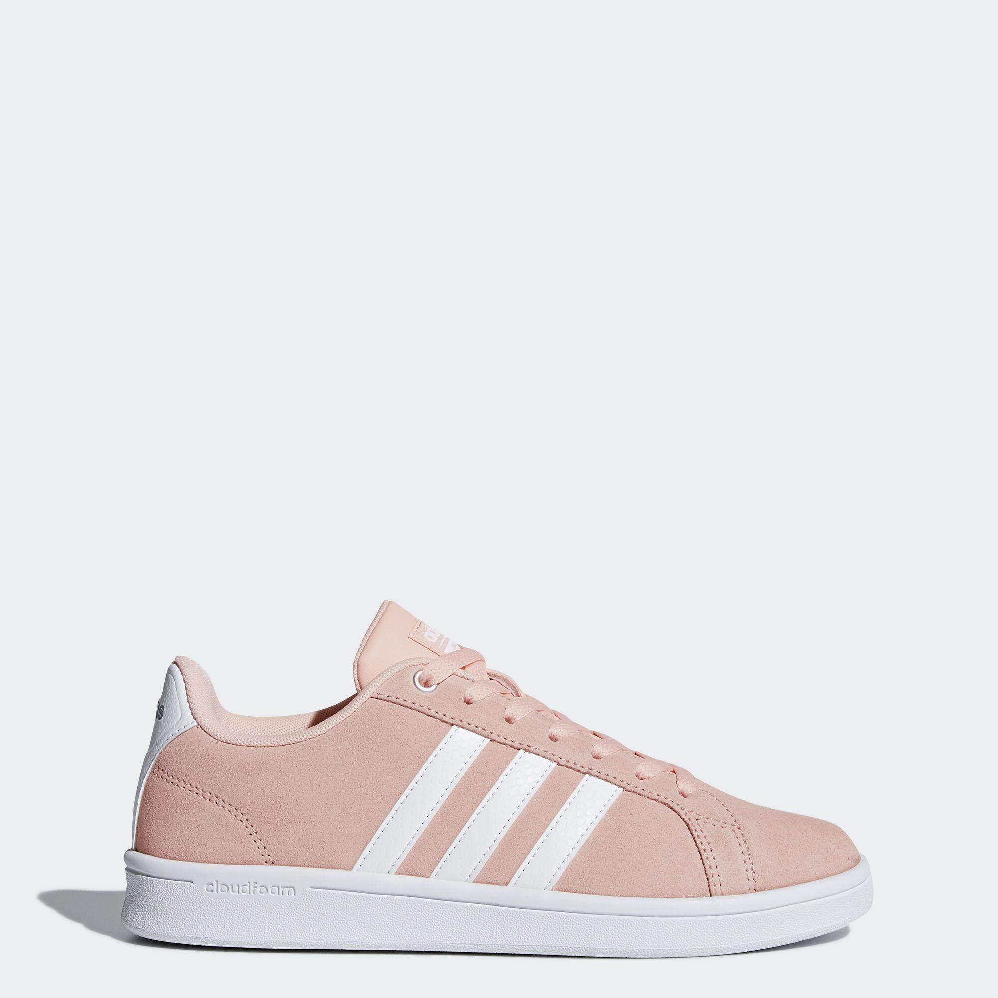ราคา Adidas Sneakers Cloudfoam Advantage Women Db0849 Pink White Silver Adidas