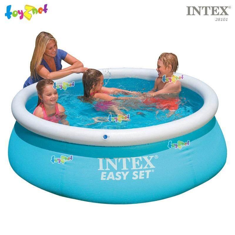 ราคา ราคาถูกที่สุด Intex สระน้ำ อีซี่เซ็ต 6 ฟุต 1 83X0 51 ม สีฟ้า รุ่น 28101