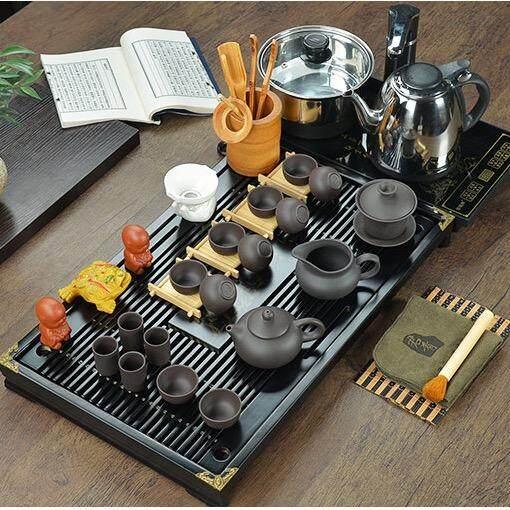 ส่วนลด ชุดชาจีน สำหรับชงชา ครบเซต สำหรับ10ท่าน รวมอุปกรณ์ 29 ชิ้น พร้อมเตาไฟฟ้า