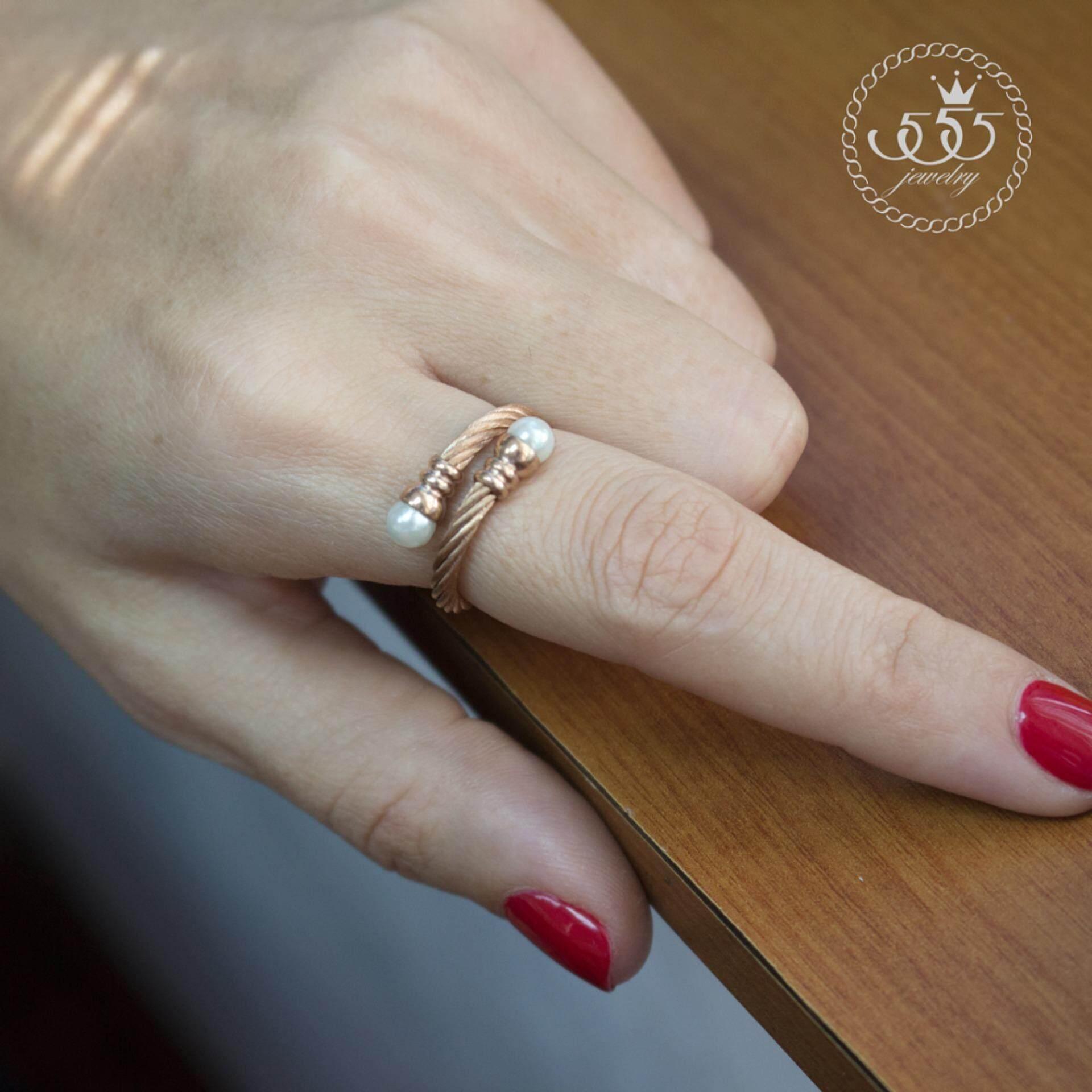 ซื้อ 555Jewelry แหวนดีไซน์เก๋ Free Size รุ่น Mnc R733 C สี พิ้งโกลด์ แหวนปรับไซส์ได้ ปรับขนาดได้ R62 แหวนผู้หญิง แหวนคู่ แหวนคู่รัก เครื่องประดับ แหวนผู้ชาย แหวนแฟชั่น ใหม่ล่าสุด