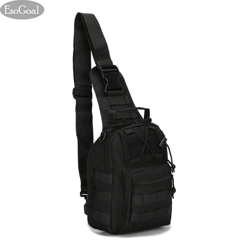 ขาย Esogoal Tactical Sling Bag Outdoor Chest Pack Shoulder Backpack Military Sport Bag For Trekking Camping Hiking Rover Sling Daypack For Men Women จีน ถูก