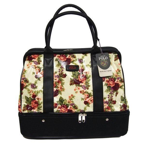 Romar Polo กระเป๋าเดินทาง กระเป๋าผู้หญิง กระเป๋าหิ้ว กระเป๋าถือ 16 นิ้ว รุ่น AsGolfBag Sweet Blossom 77716 (Cream)