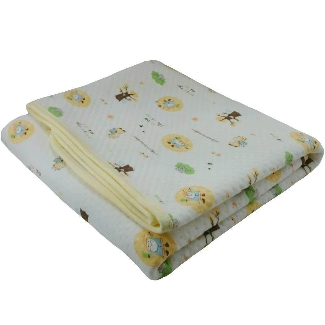ขาย ซื้อ แผ่นรองนอนกันน้ำ รองฉี่กันเปื้อนที่นอน ลายการ์ตูน สีเหลือง ขนาด 70 X 105 ซม ไทย