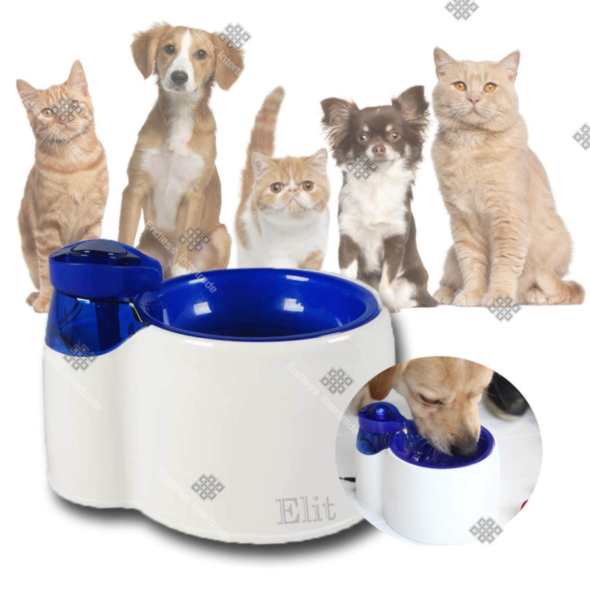 ราคา Elit ที่ให้น้ำแมว สุนัข สัตว์เลี้ยง แบบน้ำพุ Pet Drinking Fountain รุ่น Pdf2204 Sd Elit