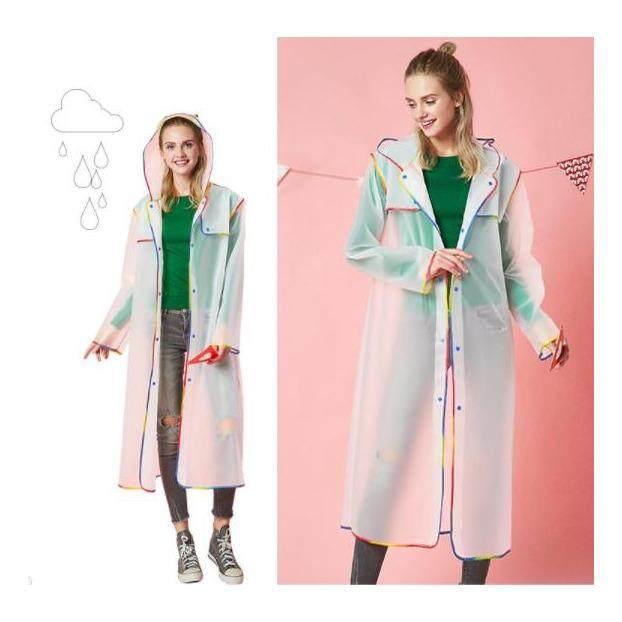 Long EVA Thick Rainwear Universal Rain Coat Waterproof Poncho-Grey - intl