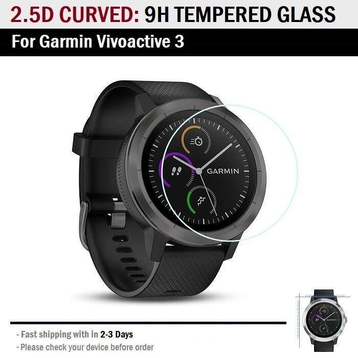 ราคา กระจก กันรอย เต็มจอ Garmin Vivoactive 3 9H Tempered Glass Screen Protector For Garmin Vivoactive 3 ใหม่