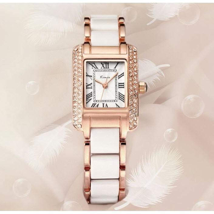 ขาย Kimio นาฬิกาข้อมือผู้หญิง สีขาว พิงค์โกล์ด สาย Alloy รุ่น Kw6036 ถูก