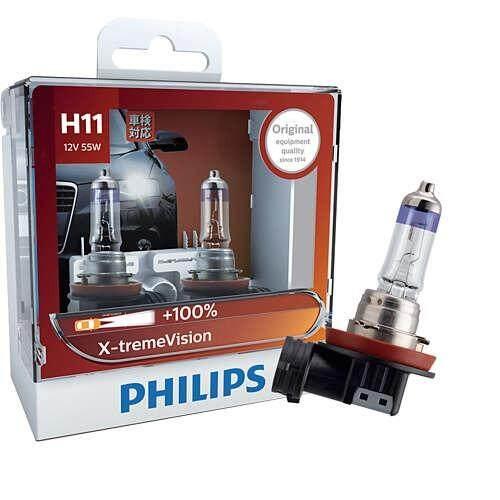 ราคา ราคาถูกที่สุด Philips หลอดไฟหน้ารถยนต์x Treme Vision 100 3350K H11