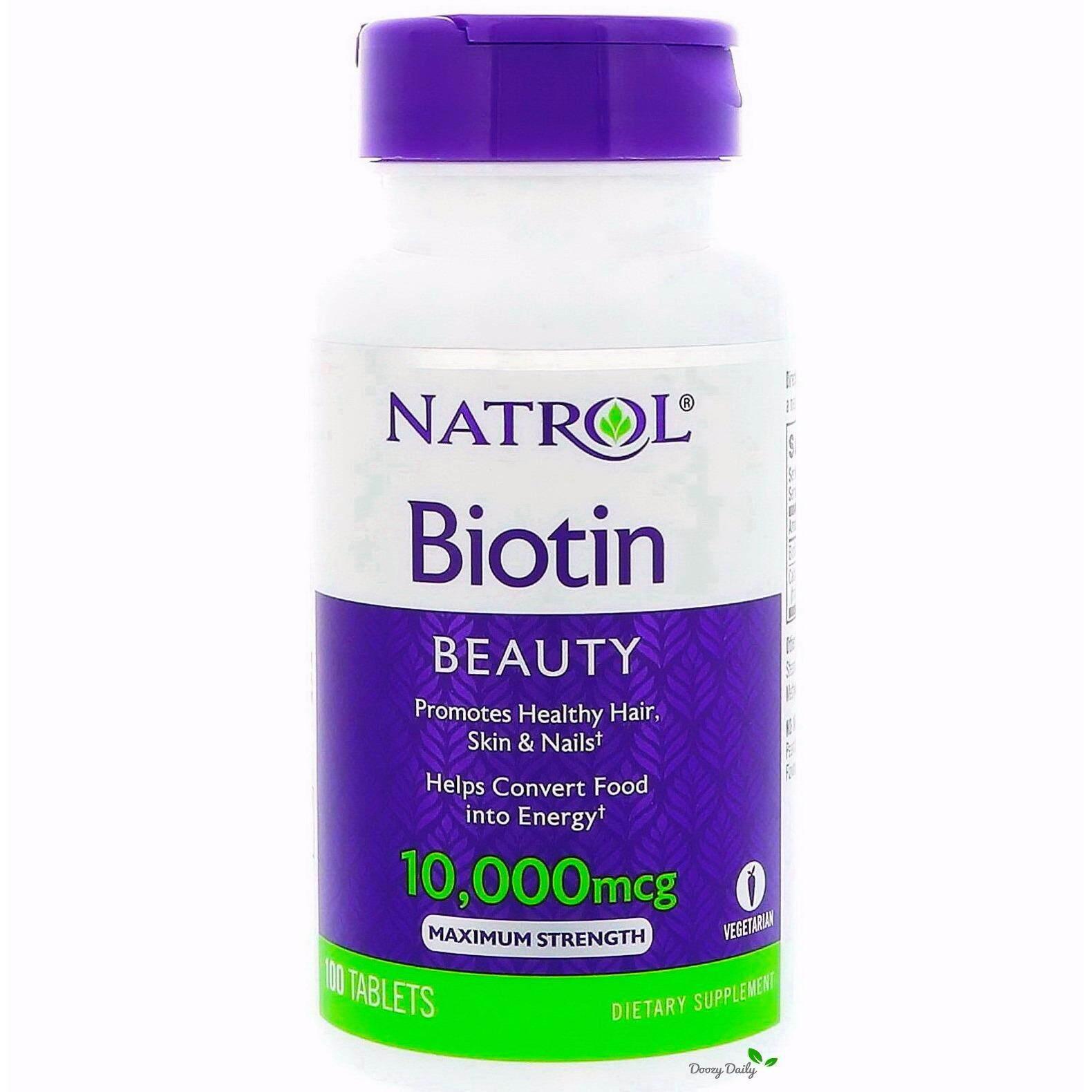 ขาย Natrol Biotin 10 000 Mcg X 100 เม็ด ไบโอติน วิตามิน เส้นผม ผิวหนัง เล็บ Maximum Strength กรุงเทพมหานคร ถูก