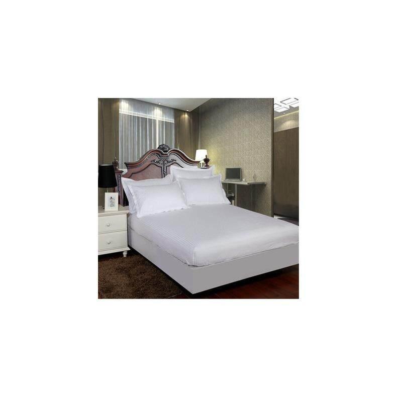 ทบทวน ที่สุด Nasa 008 ชุดผ้าปูที่นอน สีพื้น ลายริ้ว 6 ฟุต 5 ชิ้น สีขาว