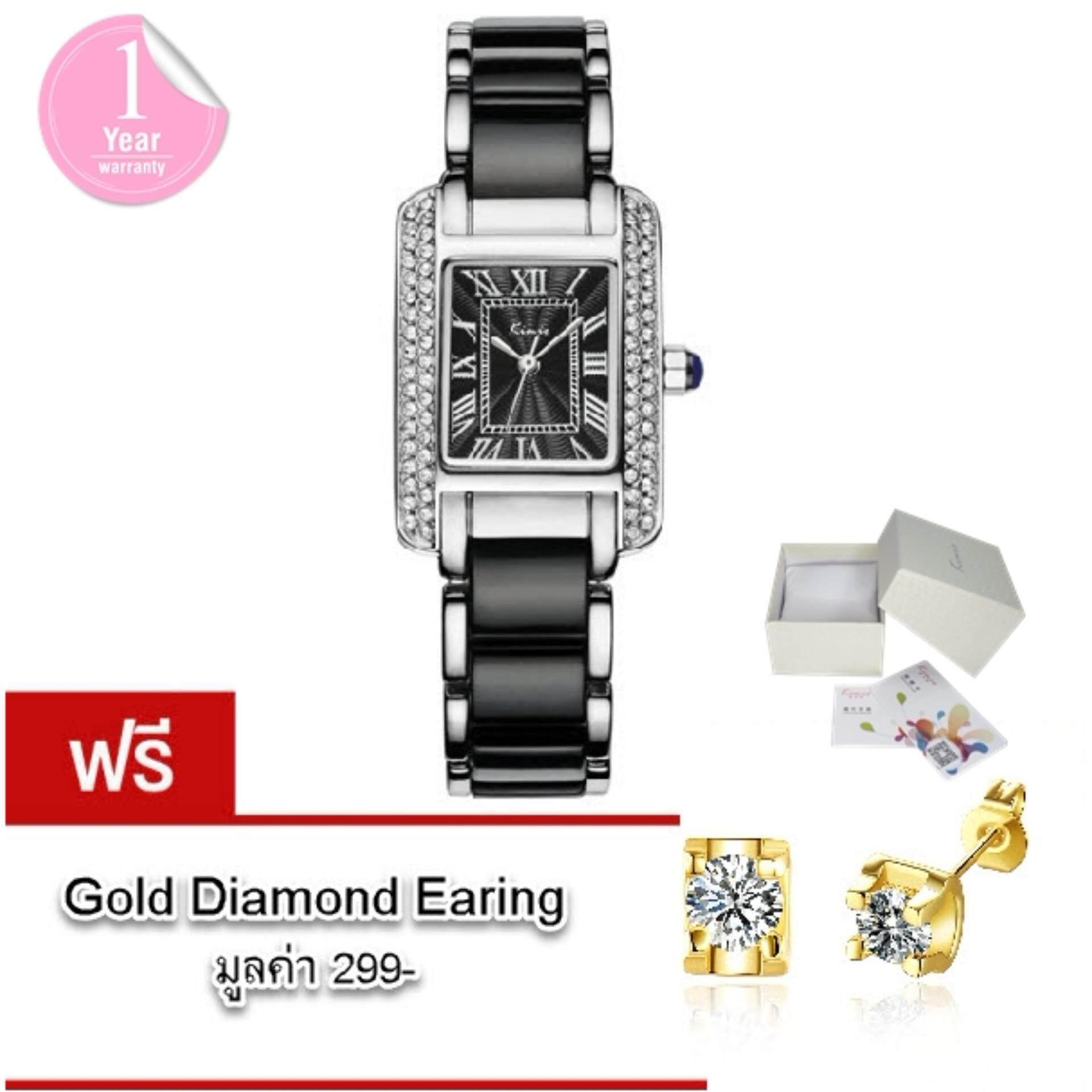 ขาย Kimio นาฬิกาข้อมือผู้หญิง แท้ 100 สาย Alloy สุดอินเทรนด์แฟชั่นของสาวๆ รุ่น Kw6036 พร้อมกล่อง Kimio แถมฟรี ต่างหู Gold Diamond มูลค่า 299 ถูก สมุทรปราการ
