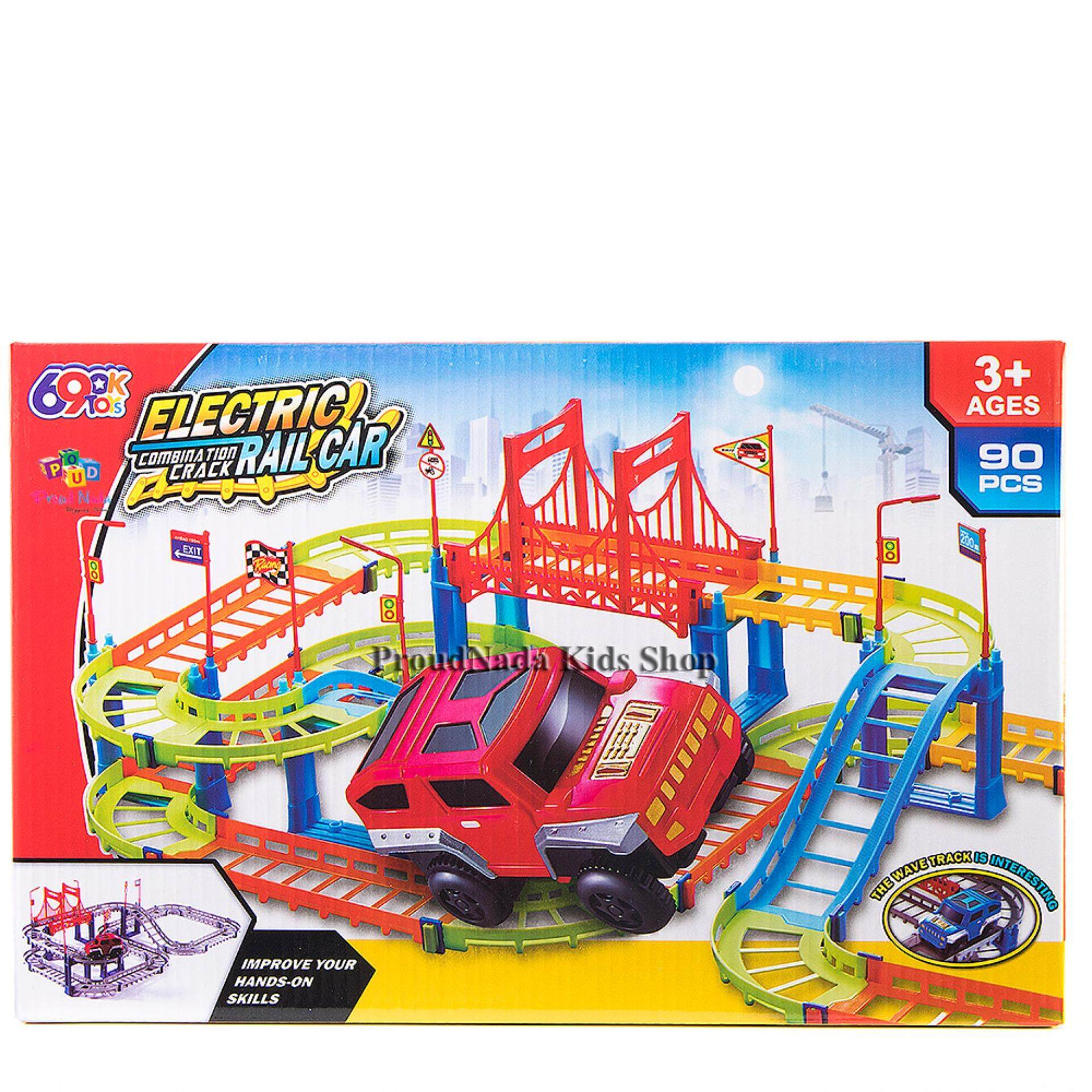 โปรโมชั่น Proudnada Toys ของเล่นเด็กเซตรถราง Electric Combination Cr*ck Rail Car No 1049 Proudnada Toys