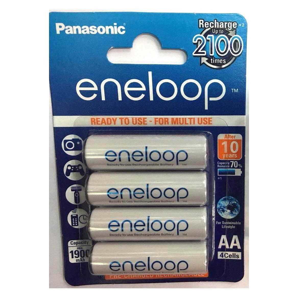 ราคา ถ่านชาร์จ Panasonic Eneloop Aa 4 ก้อน ของแท้ ประกัน 6 เดือน ผลิตปี 2017 ใหม่