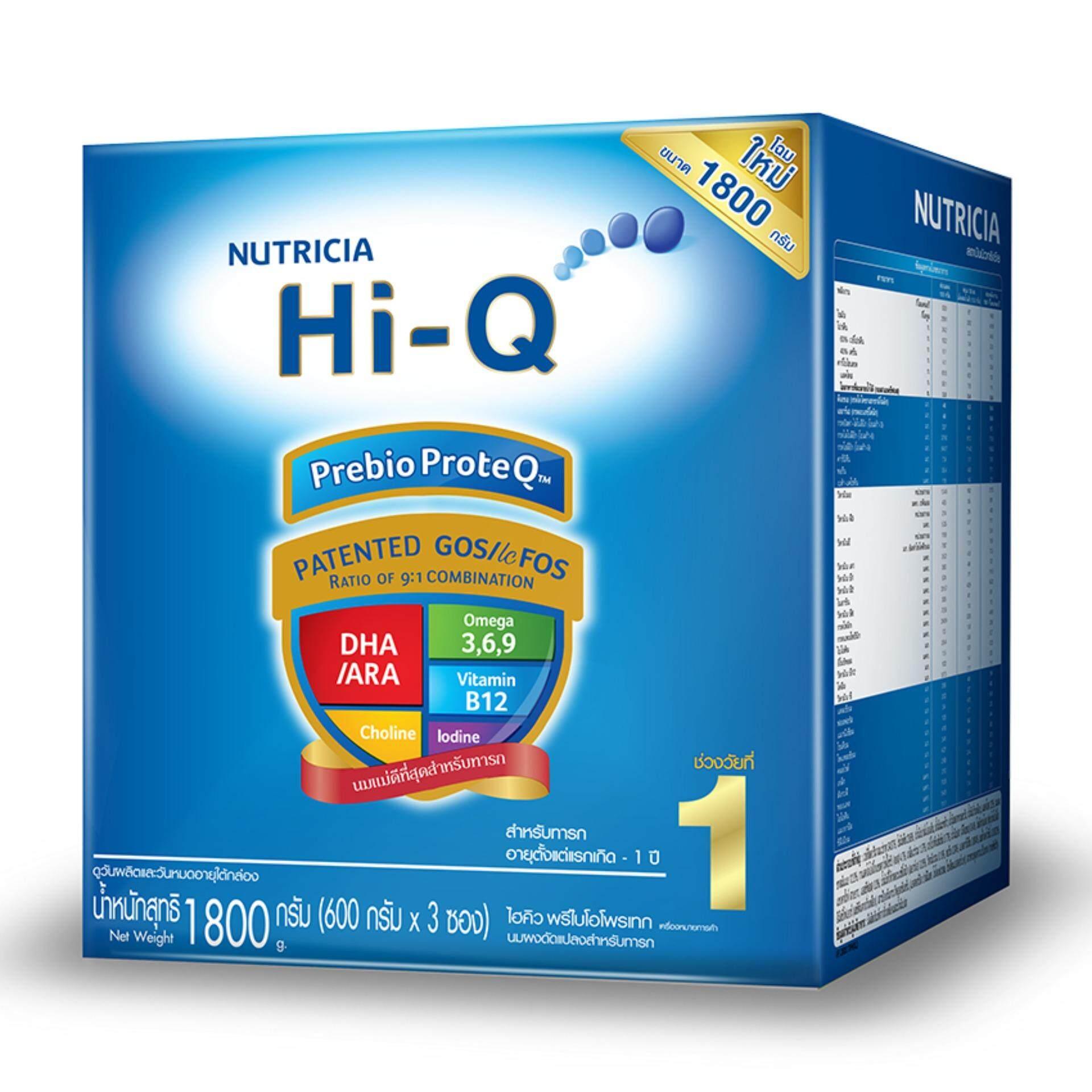 ราคา Hi Q ไฮคิว นมผง พรีไบโอโพรเทค ช่วงวัยที่ 1 รสจืด 1800 กรัม ใหม่