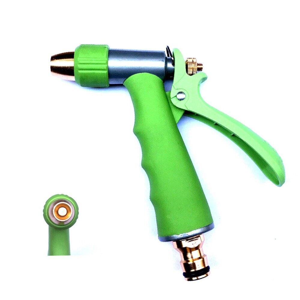 ราคา Expert Group ปืนฉีดน้ำ หัวฉีดน้ำ ที่ฉีดน้ำ แรงดันสูง อเนกประสงค์ หัว เข้า ออก ทำจากทองเหลือง ปรับมุมของน้ำได้ สีเขียว ใหม่